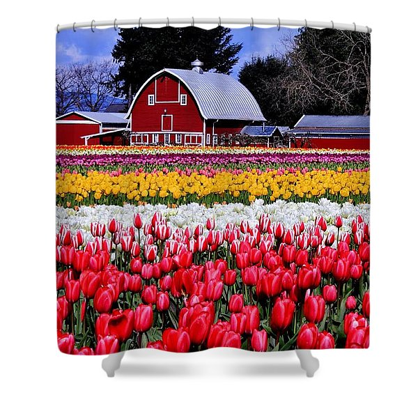 Skagit Valley Shower Curtain by Benjamin Yeager