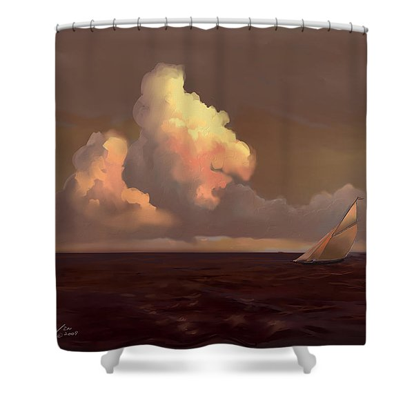 Skirting The Cell Shower Curtain by Mike Savlen