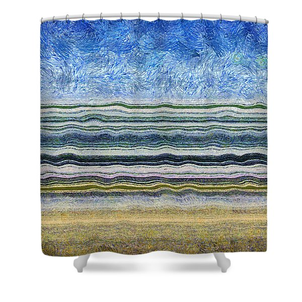 Sky Water Earth 2 Shower Curtain by Michelle Calkins