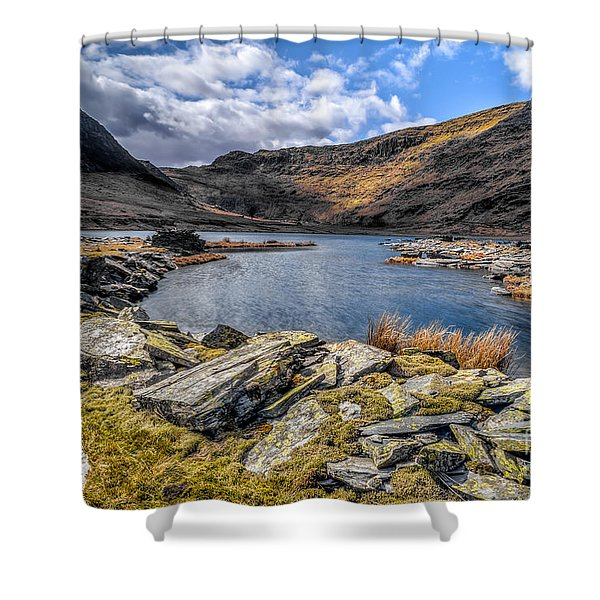 Slate Valley Shower Curtain by Adrian Evans