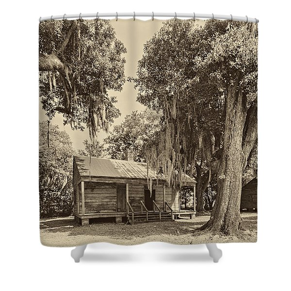 Slave Quarters sepia Shower Curtain by Steve Harrington