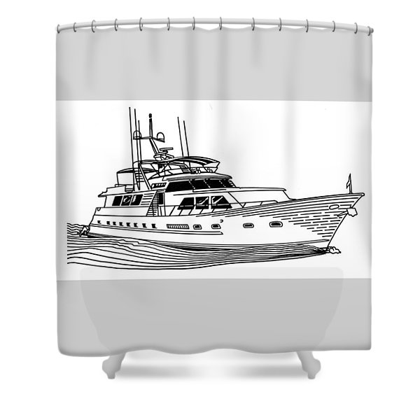 Sleek Motoryacht Shower Curtain by Jack Pumphrey