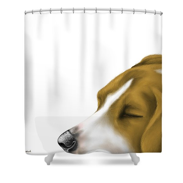 Sleeping Shower Curtain by Veronica Minozzi
