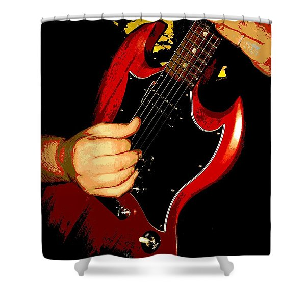 Slide Guitar Shower Curtain by Chris Berry
