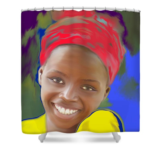 Smile Shower Curtain by Kume Bryant