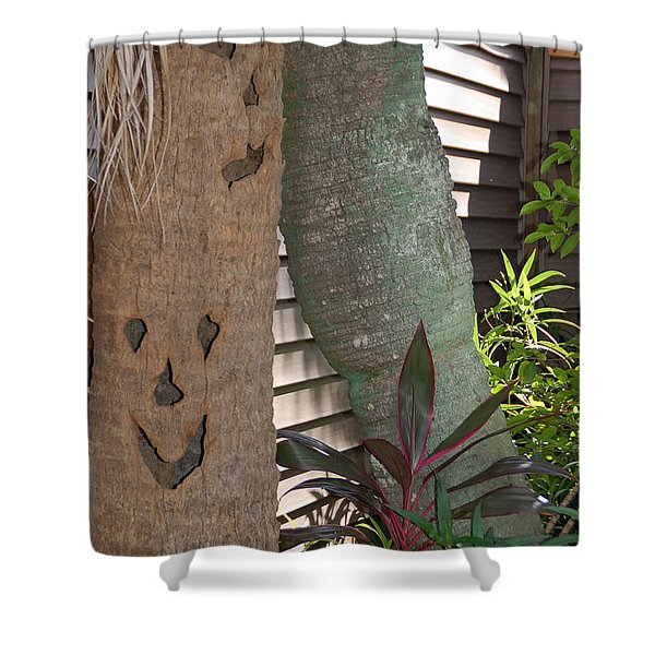 Smiley Tree Shower Curtain by Aimee L Maher Photography and Art
