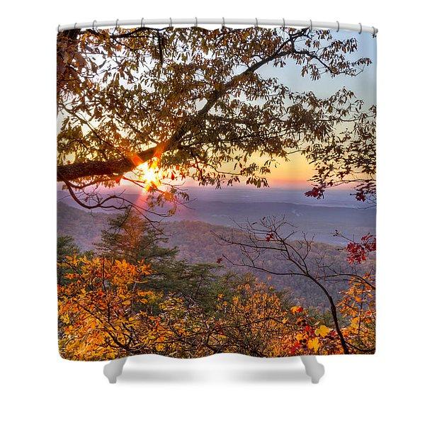 Smoky Mountain High Shower Curtain by Debra and Dave Vanderlaan