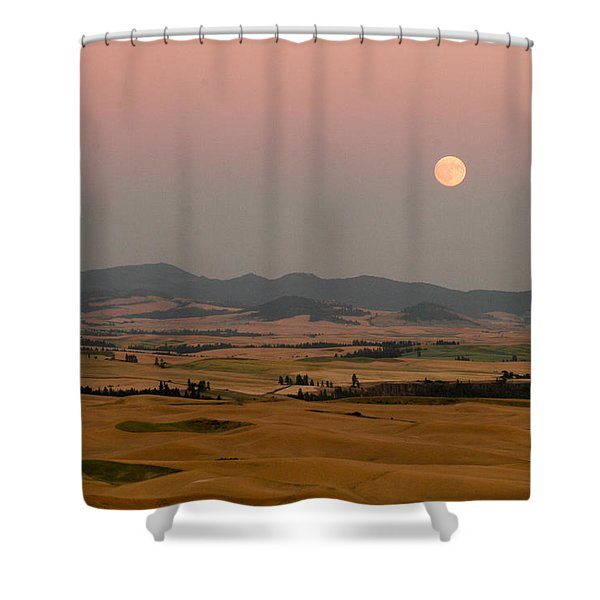 Smoky Palouse Shower Curtain by Jean Noren