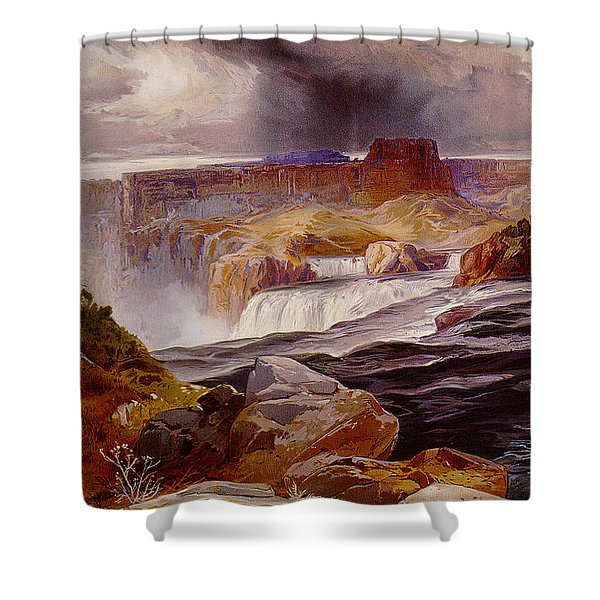Snake River Idaho 1876 Shower Curtain by Unknown