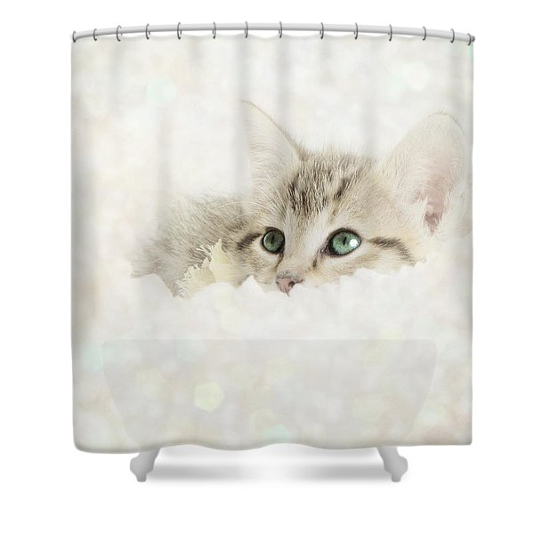 Snow Baby Shower Curtain by Amy Tyler