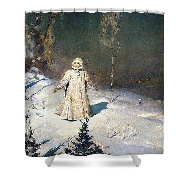 Snow Maiden 1899 By Vasnetsov Shower Curtain by Movie Poster Prints