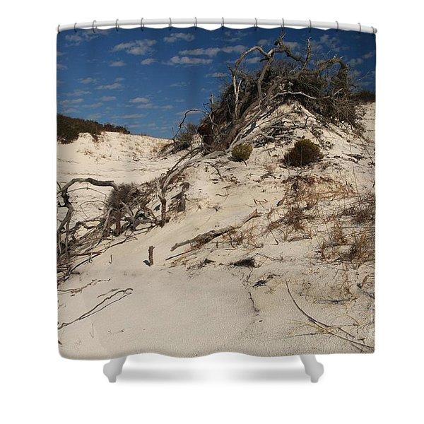 Snow White Dunes Shower Curtain by Adam Jewell
