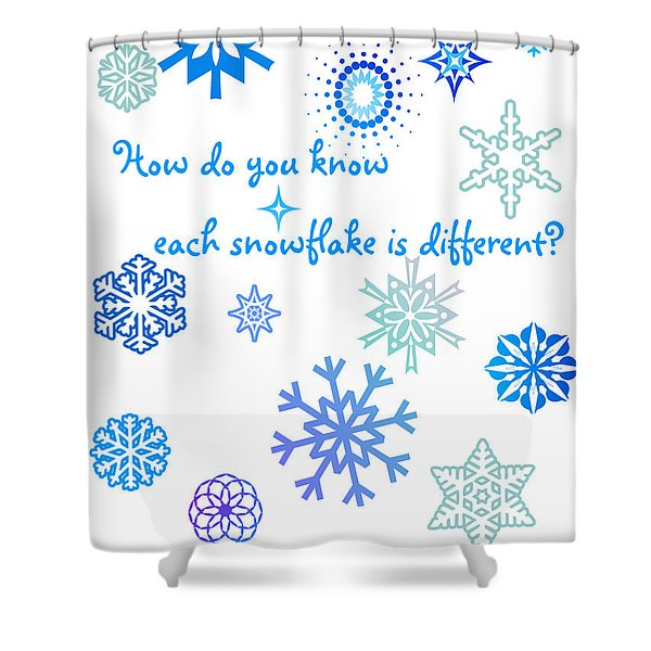Snowflakes Shower Curtain by Methune Hively