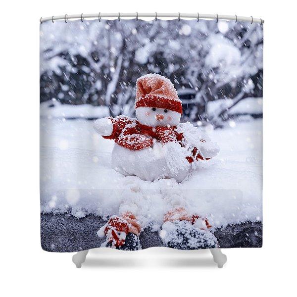 snowman Shower Curtain by Joana Kruse