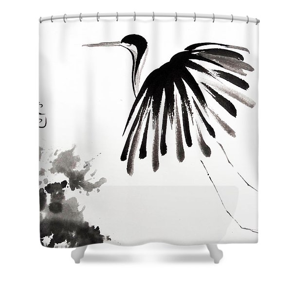 Soaring High Shower Curtain by Oiyee  At Oystudio