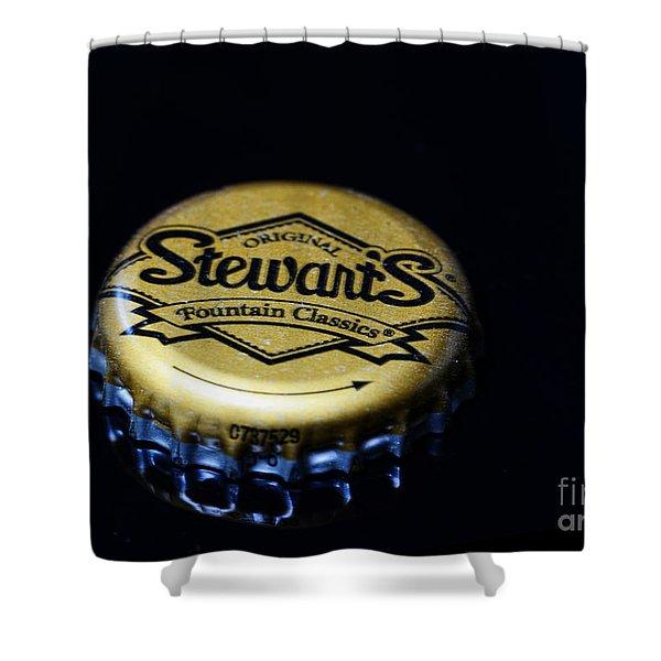 Soda - Stewarts Root Beer Shower Curtain by Paul Ward