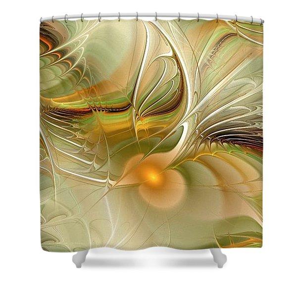 Soft Wings Shower Curtain by Anastasiya Malakhova