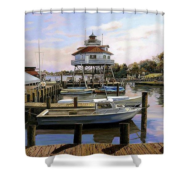 Solomon's Island Shower Curtain by Guido Borelli