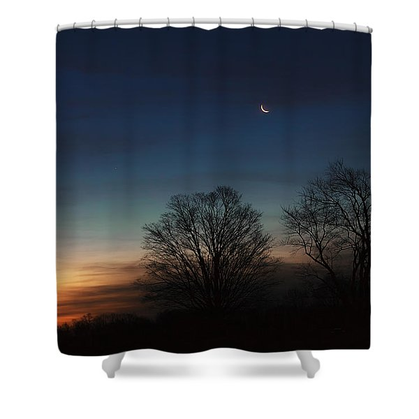 Solstice Moon Shower Curtain by Bill  Wakeley