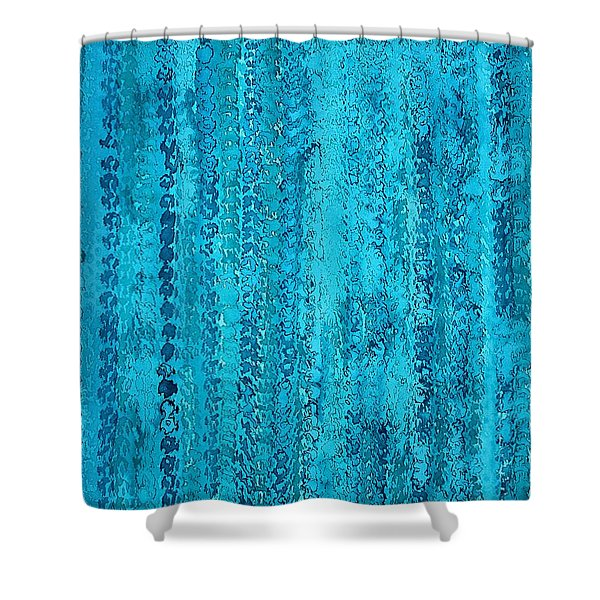 Some Call It Rain Original Painting Shower Curtain by Sol Luckman