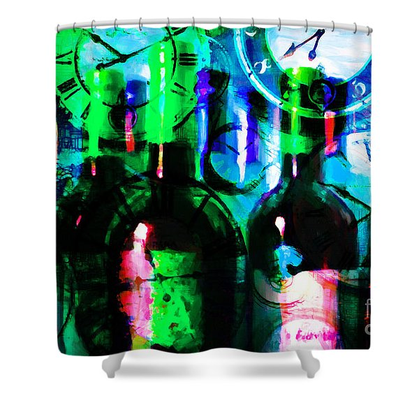 Some Things Get Better With Time p138 Shower Curtain by Wingsdomain Art and Photography