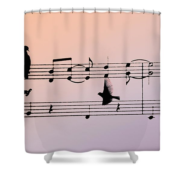 Songbirds Shower Curtain by Bill Cannon