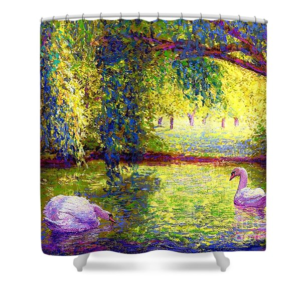 Soul Mates Shower Curtain by Jane Small