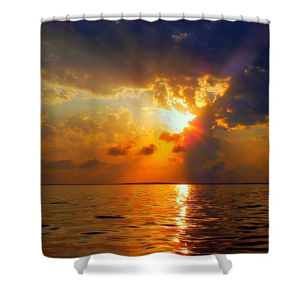 SOUNDS of SILENCE Shower Curtain by KAREN WILES
