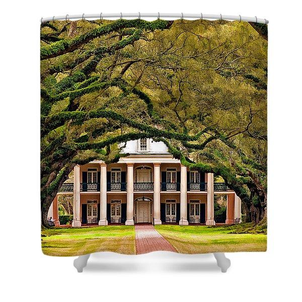 Southern Class Painted Shower Curtain by Steve Harrington