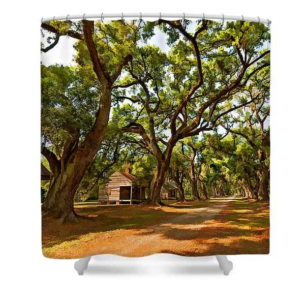 Southern Lane paint filter Shower Curtain by Steve Harrington