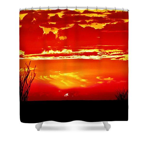 Southwest Sunset Shower Curtain by Robert Bales