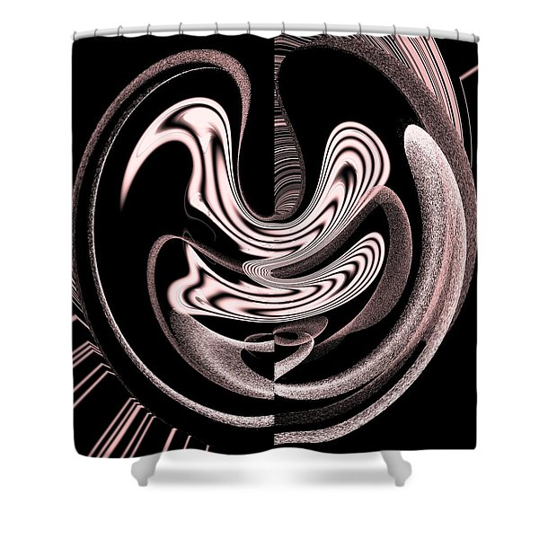 Space Time Continuum Shower Curtain by Georgeta  Blanaru