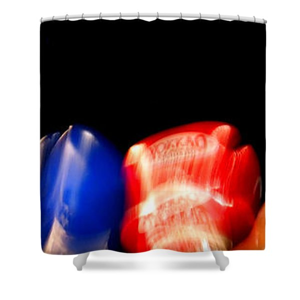 Sparring Shower Curtain by Justin Woodhouse