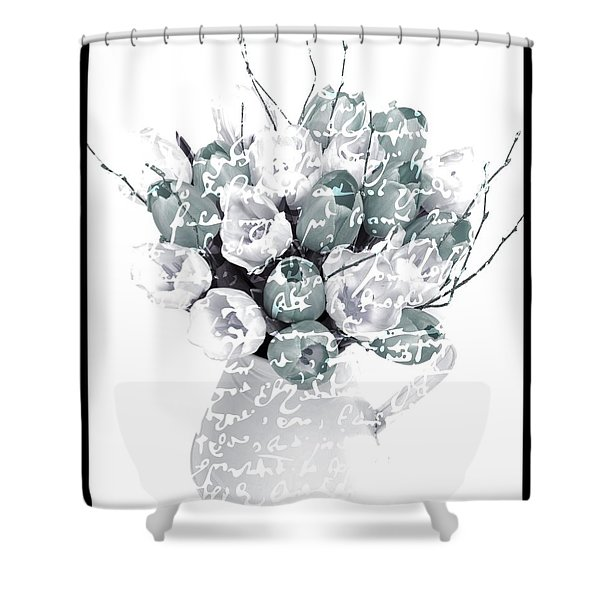 Speak Softly Tulips Shower Curtain by Debra  Miller