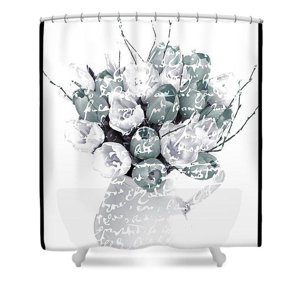 Speak Softly Tulips Shower Curtain by Debra  Miller