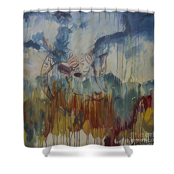 Spearfish Canyon Shower Curtain by Avonelle Kelsey
