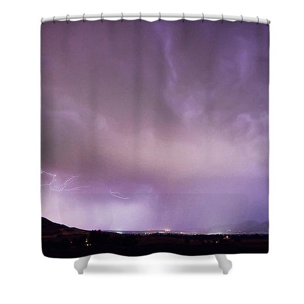 Spider Lightning Above Haystack Boulder Colorado Shower Curtain by James BO  Insogna