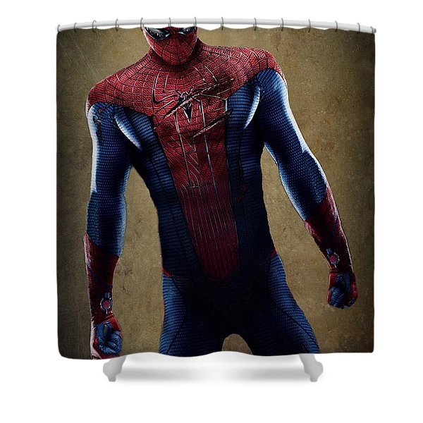 Spider-man 2.1 Shower Curtain by Movie Poster Prints