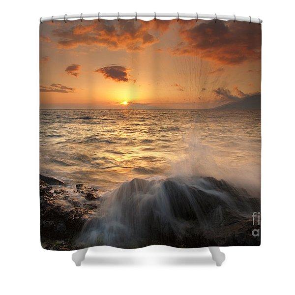 Splash of Paradise Shower Curtain by Mike  Dawson