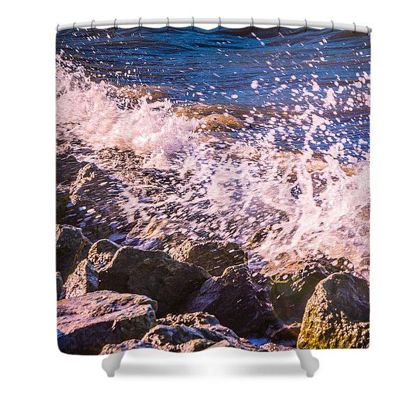 Splashes Shower Curtain by Dawn OConnor