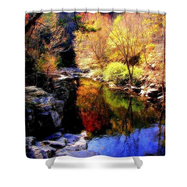 Splendor Of Autumn Shower Curtain by Karen Wiles