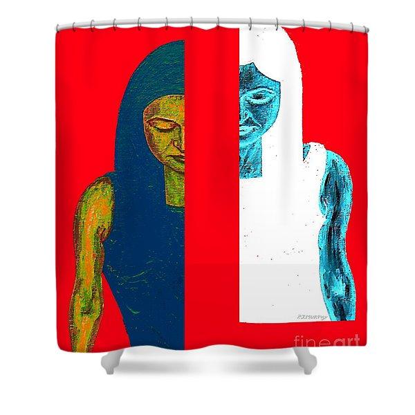 Split Personality Shower Curtain by Patrick J Murphy