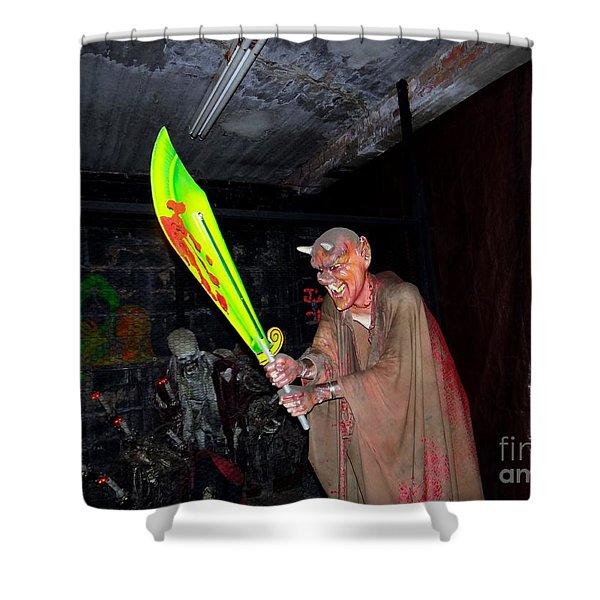 Spook House Shower Curtain by Ed Weidman