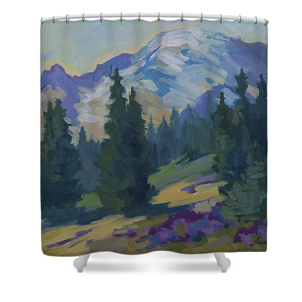 Spring at Mount Rainier Shower Curtain by Diane McClary