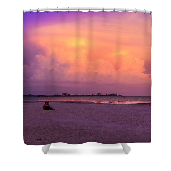 Spring Break Shower Curtain by Marvin Spates