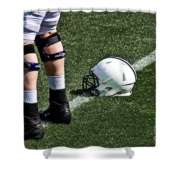 Spring Football Shower Curtain by Tom Gari Gallery-Three-Photography