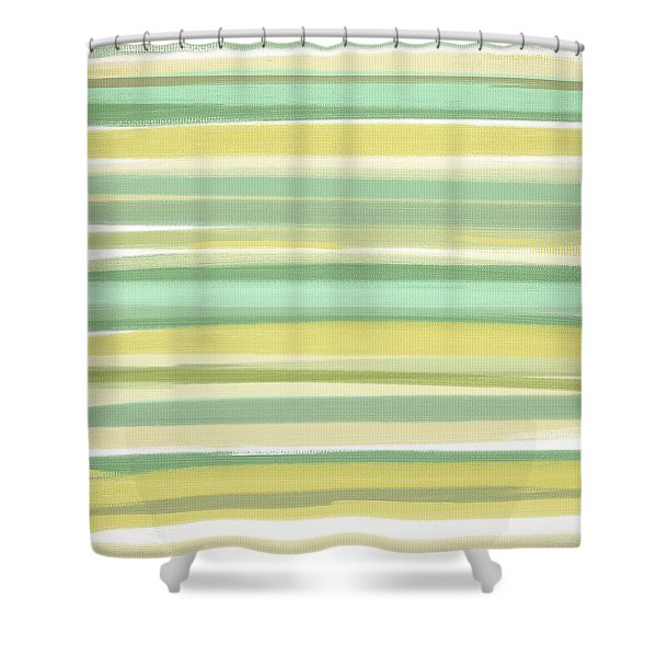 Spring Green Shower Curtain by Lourry Legarde