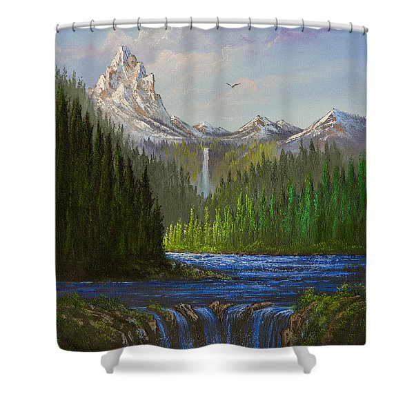 Spring In The Rockies Shower Curtain by C Steele