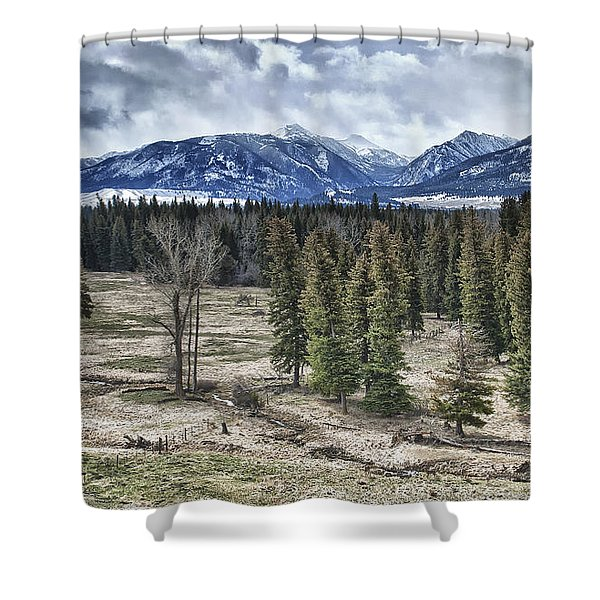 Spring in the Wallowas Shower Curtain by Adele Buttolph