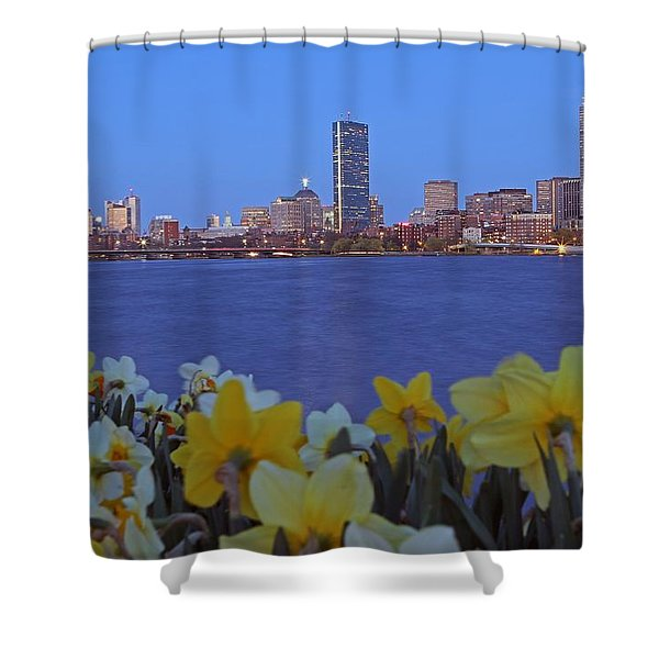 Spring into Boston Shower Curtain by Juergen Roth
